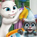 Angela's Baby Wash Games : Angela's little kitten is in need of a bath and sh ...