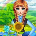 Anna Mommy Gardening Games : Spring is here! And Anna can not wait to show her daughter h ...