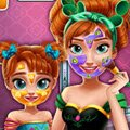 Anna Mommy Real Makeover Games : Anna and her cute little daughter are spending their day in  ...