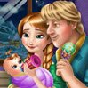 Anna and Kristoff Baby Feeding Games : Anna and Kristoff are now parents! Help the charming couple take care of their l ...