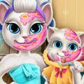 Angela Mommy Real Makeover Games : Our cute furry kitty Angela likes to pamper her daughter wit ...