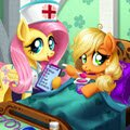 Applejack Stomach Care Games : While she was strolling through her garden, Applej ...
