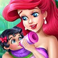 Ariel Baby Feeding Games : Under the sea, Ariel wakes up to the sounds of her crying me ...