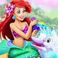 Ariel Dolphin Wash Games : Ariel likes to treat her new friends like royalty  ...