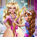 Barbie Princess Tailor Games : Corinne is very excited to make a dress for her co ...