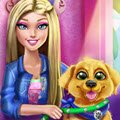 Barbie Puppy Potty Training Games : Barbie came home to find that her little puppy, Taffy, made a mess while she was ...