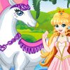 White Horse Princess Games : Dress up this medieval and so beautiful princess along with her magical white ho ...