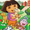 Dora Round Puzzle Games : Fix all pieces of the picture in exact position using  the m ...