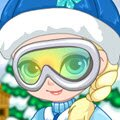 Baby Elsa Skiing Trip Games : Oh my! Sweet baby Elsa is now getting ready for he ...