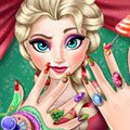 Elsa Christmas Manicure Games : Create a perfect Christmas manicure for the beauti ...