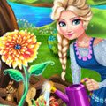 Elsa Mommy Gardening Games : Winter is finally coming to an end in Arendelle and Elsa can ...
