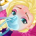 Elsa's Stomach Virus Games : As Elsa's personal doctor you girls will have to r ...