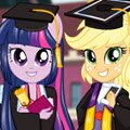 Equestria Team Graduation Games : Twilight Sparkle, Applejack and Rainbow Dash can't wait to s ...