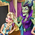 Frozen Highschool Mischief Games : Elsa and Anna have to attend Maleficent's classes, but they  ...