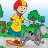 Caillou Rotate Puzzle Games : Arrange the pieces correctly to figure out the ima ...