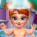 Anna Baby Bath Games : Cute little Anna needs to get a bath before a playdate with  ...