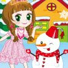 Princess and Snowman Games : A princess is with a snowman and want to play with him. Dres ...