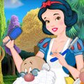 Snow White's Beard Salon Games : Snow White is the lucky owner of a magical Beard S ...