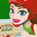Girl on Skates Pizza Mania Games : Grab your skates and run the busiest pizza parlor  ...