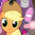 MLP Hair Salon Games : You are invite to join Applejack in and help her impress her ...