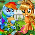 MLP Veggie Garden Games : Rainbow Dash will always clear the skies for a friend, so wh ...