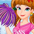 Anna's Cheerleading Tryouts Games : Frozen Anna is going to attend the cheerleading tryouts. Thi ...