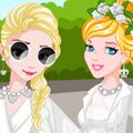 Princess Diner En Blanc Games : Summer is almost over now so Tiana, Jasmine, Elsa and Cinderella were looking fo ...