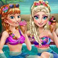 Princess Pool Party Games : The cold never bothered them anyway, Elsa, Anna an ...