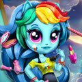 Rainbow Dash K Pop Fashion Games : The ever daring Rainbow Dash discovers K-Pop and wants to dr ...