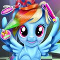 Rainbow Dash Real Haircuts Games : Our magic friend, Rainbow Dash likes to fly through sky and  ...
