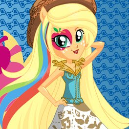 My Little Pony Rainbow Rocks Applejack Dress Up Game