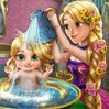 Rapunzel Baby Wash Games : Our adventurous princess, Rapunzel, has a little girl that looks just like her!  ...