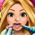 Rapunzel Real Dentist Games : Even the beautiful blonde princess can not get away from cav ...