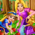 Rapunzel Mommy Gardening Games : Rapunzel is teaching her curious daughter the magic of garde ...