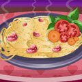 Spaghetti With Garlic and Basil Games : Are you ready for a new cooking lesson?  We have got another brand new cooking r ...