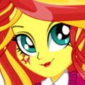 Sunset Shimmer School Spirit Style Games : The Friendship Games have begun, and the Wondercol ...