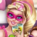 Super Barbie Pyjama Party Games : You are invited to Barbie's pyjama party, so put o ...