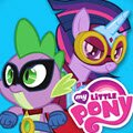 Power Ponies Go Games : Spike finds out when his favorite comic book magically hoofs the ponies and him into battle with a d ...