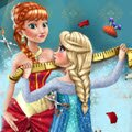Elsa Tailor for Anna Games : Elsa has to make a beautiful gown for Anna's birthday, but h ...