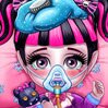 Baby Monster Flu Doctor Games : Baby Draculaura caught a cold while playing in the rain with ...