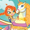 Winx Club Magical Adventure Games : Help Bloom and Peg bounce from cloud to cloud and  ...