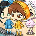 Rainy Chibi Games : Create your own adorable kawaii raincoat girl! ...