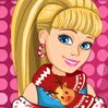 Christmas Patchwork Dress Games : Cute Barbie has in mind a pretty special outfit fo ...