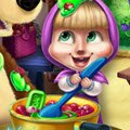 Masha Kitchen Mischief Games : Bear is trying to make a delicious jam out of the harvest he ...