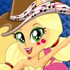 Applejack Rocking Hairstyle Games : This Equestria Girls has the rockin'est hairstyle in town! A ...