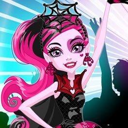 Monster High Dance the Fright Away Draculaura Dress Up Game